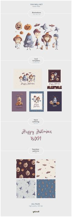Kids Halloween Characters & Elements - Illustrations - 7