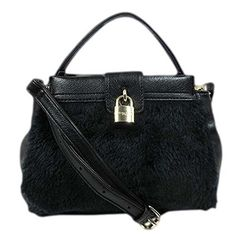 Olivia   Joy Beatrice Mini Top Handle Black Leather/fur Crossbody Bag >>> You can find more details at