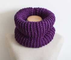 Purple infinity scarf vegan berry cowl cruelty by FawnAndFolly