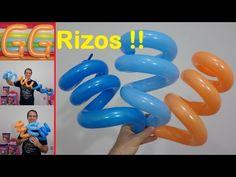 como rizar globos largos - globoflexia facil - rizado de globos 260 - como hacer rizos con globos - YouTube