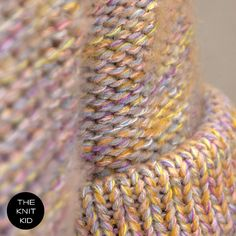 Strickpullover pastell bunt theknitkid Merino Baumwolle Mohair. €249.90, via Etsy.