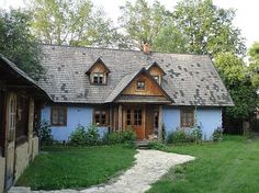 The old, wooden house from Roztocze region. Find out more about PO Kingdom of… Vernacular Architecture, Architecture Design, Cottage Design, House Design, Wooden Buildings, Wooden House, Cottage Homes, Traditional House, Cozy House