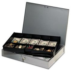 Shop for SteelMaster Extra-Wide Steel Cash Box with 10 Compartments Key Lock Grey. Get free delivery On EVERYTHING* Overstock - Your Online Office Electronics Destination! Get in rewards with Club O! Extra Storage Space, Storage Spaces, Heavy Duty Hinges, Safety Latches, Cash Box, Play Money, Key Lock, Storage Design, Plastic Molds