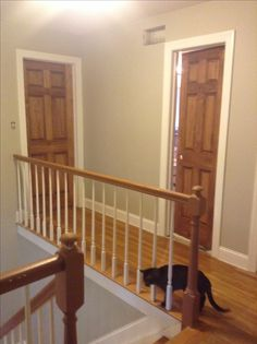 Wood Doors Stained Special Walnut With White Trim Revere Pewter By Benjamin