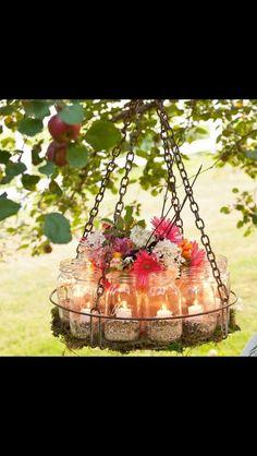 Cute outdoor wedding decor