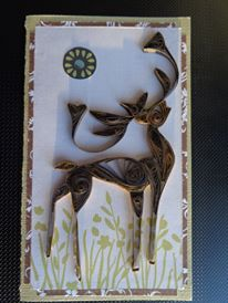Quilled Deer Card by Karen Miniaci. Quilling Supplies from 'Quilled Creations'