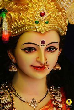 New Beautiful Latest Mata Ji Navratri Wallpaper And Wishes Collection By WaoFam. Lord Durga, Durga Ji, Saraswati Goddess, Goddess Lakshmi, Lord Shiva, Shri Hanuman, Lord Krishna, Maa Kali Images, Shiva Parvati Images