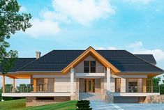 Projekt domu LK&1127 House Plans Mansion, Cottage Style House Plans, Home Fashion, Modern House Design, Villa, Ipad, Cabin, Mansions, House Styles