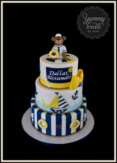 Nautical Baby Shower Cake! | Flickr - Photo Sharing!