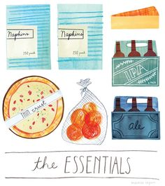 Delightful Illustrations Of People's 'Essential' Grocery Store Buys - DesignTAXI.com