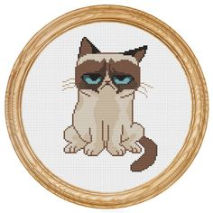 Cross Stitch Pattern PDF grumpy cat DD0052 par HappyStitches4You