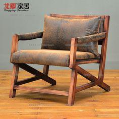 Купить товар Ретро , чтобы сделать старый дерево поручни шезлонг минималистский ткань кожа кресло стул кофе стул в категории Гостиничные диваны на AliExpress. Лофт американской стране, чтобы сделать старый ретро мебель, кованого железа бар стулья твердая древесина обед