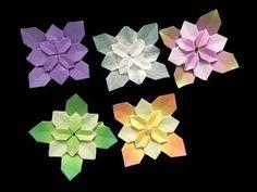 수국 꽃 종이접기 Hortensie Origami tutorial (스더맘 sthermom) - YouTube