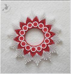 Piros - fehér mécsestartó.