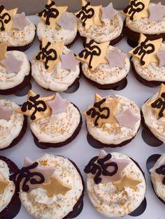 Star themed Wedding Anniversary Cupcakes