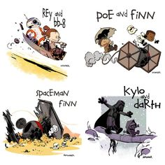 Calvin & Hobbes-inspired Star Wars...LOVE IT! Great job Brian Kesinger!