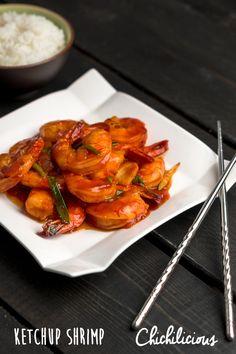 Most Popular Shrimp Scampi Recipes Low Carb Shrimp Recipes, Asian Seafood Recipe, Seafood Recipes, Asian Recipes, Cooking Recipes, Ethnic Recipes, Shrimp Fettuccine, Vegetarian Appetizers, Those Recipe