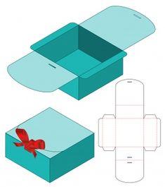 Paper Box Template, Box Templates, Diy Gift Box Template, Box Packaging Templates, Origami Templates, Packaging Boxes, Chocolate Box Packaging, Die Cut Boxes, Diy Paper Bag