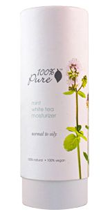 MINT WHITE TEA  MOISTURIZER  100% Natural, 100% Vegan  Super lightweight, non greasy facial moisturizer hydrates and nourishes without clogging pores. Packed full of skin beneficial, nourishing organic nutrients, vitamins and antioxidants to make your skin healthy, hydrated, and more youthful. Made specifically to treat normal to oily skin but gentle enough for all skin types. Truly 100% Pure – carefully formulated without harsh detergents, synthetic chemicals, chemical preservatives…