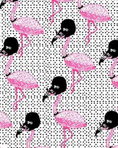 lady flamingo print