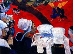 Gauguin visión  despues del sermon: Jacobo luchando con el angel, 1888