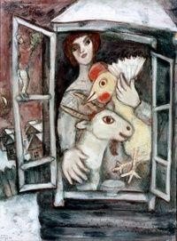 """""""Das Fenster"""" by Marc Chagall"""