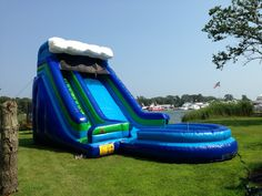 23' Wave Theme Water Slide www.flosinflatables.com