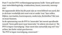 PVV wil geen vooruitgang  Geert 'chicken' Wilders wil natuurlijk allemaal fascistische dingen. Maar dit is ook weer leuk...
