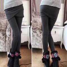 Cross Hip Skirt Leggings For Women