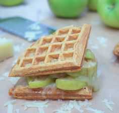Waffle Sandwich with Caramelized Apples & Gruyere