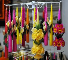 Flower Candles Oaxaca by Ilhuicamina, via Flickr