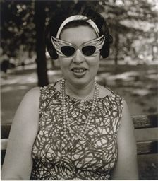 Arbu Diane Central Park | DIANE ARBUS (1923-1971) | Costume Lady in sunglasses, Central Park, N ...