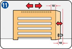 You can make your interior more attractive with a radiator housing. It's easy to make a housing yourself, with these step-by-step instructions and handy tips. Diy Radiator Cover, Central Heating Radiators, Industrial Kitchen Design, Interior Garden, Construction Design, Living Styles, Home Staging, Home Renovation, Helpful Hints