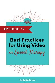 Videos can be a great tool for speech therapy, whether in-person or in online learning. Listen in to learn some great tips and tools for using video in your speech therapy sessions and check out the digital learning resources on the page. | The Digital SLP Speech Therapy Activities, Language Activities, Speech Language Pathology, Speech And Language, National Geographic Kids, Learning Resources, About Me Blog, Articles, Posts