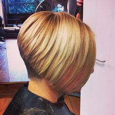 Inverted bob on blonde hair (3748 | by short hairstyles and makeovers)