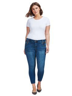 Angelonia Zip Pocket Skinny Jeans
