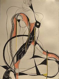 Drawing by Carmel Jenkin, Fragmented Nude, mixed media on paper, 81cm x 57cm Drawing in segments + drips Facebook Page This piece will be available for purchase on Daily Painters July 10th.