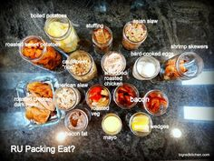 Mason Jar Cooking: great for K's baseball/soccer/football game nights. Just pop in the microwave and pack a bleacher picnic!