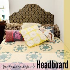 DIY Dorm Room Decor Ideas - Simple Headboard - Cheap DIY Dorm Decor Projects for College Rooms - Cool Crafts, Wall Art, Easy Organization for Girls - Fun DYI Tutorials for Teens and College Students diyprojectsfortee. Girls Headboard, How To Make Headboard, Diy Headboards, Pillow Headboard, Cardboard Headboard, Diy Cardboard, Cheap Diy Dorm Decor, Diy Room Decor, Cool Diy