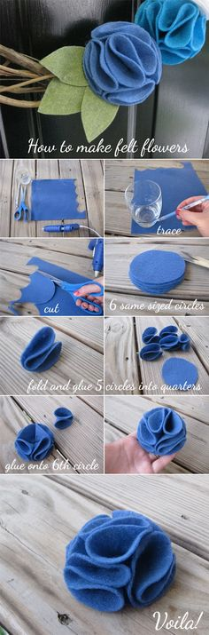 how to make felt flowers!