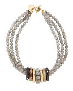 Pete Labradorite Necklace - Necklaces - Ashley Pittman - Fashion Jewelry