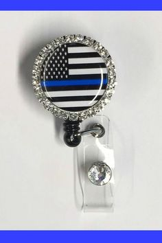 Thin blue line id holder badge reel/ retractable id holder badge reel/ police support gifts/ police wife id holder badge reel Police Officer Wife, Cop Wife, Police Wife Life, Nurse Life, Police Lives Matter, Acrylic Keychains, Police Gifts, Retractable Badge Holder, Diy Keychain