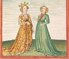 Pontus und Sidonia — Stuttgart (?) - Werkstatt Ludwig Henfflin, um 1475 Cod. Pal. germ. 142 Folio 36v