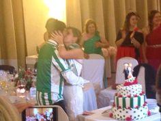 Tarta de #boda - #MushoBetis - #BodorrioFlamenco