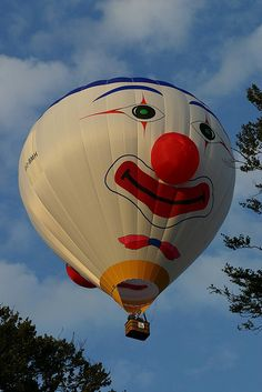 Hot-air Balloon Clown Special Shape by spixpix, via Flickr