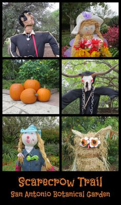 Scarecrow Trail at San Antonio Botanical Garden | San Antonio Charter Moms