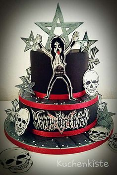 353 Best Rockheavy Metal Cakes Images Music Cakes Amazing Cakes