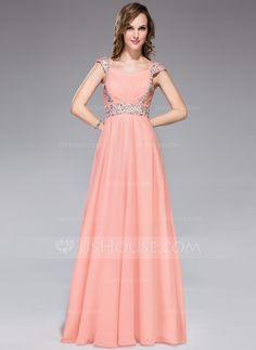 Evening Dresses - $129.99 - A-Line/Princess Sweetheart Floor-Length Chiffon Evening Dress With Ruffle Beading Sequins (018047242) http://jjshouse.com/A-Line-Princess-Sweetheart-Floor-Length-Chiffon-Evening-Dress-With-Ruffle-Beading-Sequins-018047242-g47242