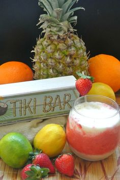 The combination of flavors in this Strawberry Lava Flow drink are as tropical as it can get
