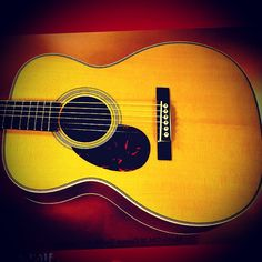 Martin OM-28 recently built. Stunning sound. This is the gold standard for acoustic guitars you play with your fingers... when you want to hear distinct individual notes. - Instagram/jensenbell